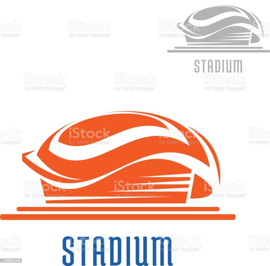 Sport area or stadium icon vector art illustration