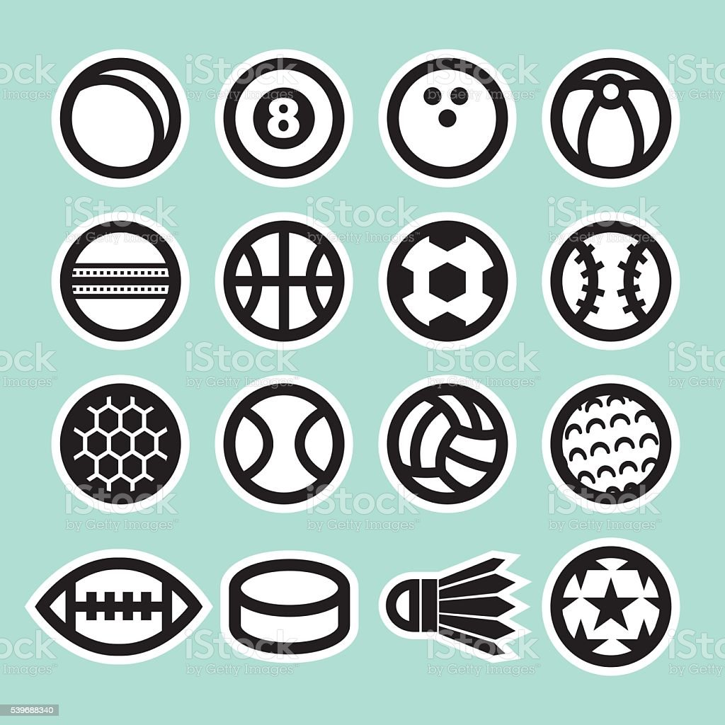 Black & White Sport Ball Icon