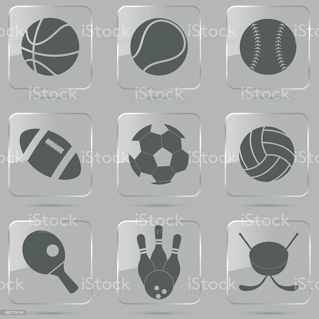Sport Ball Icons vector art illustration
