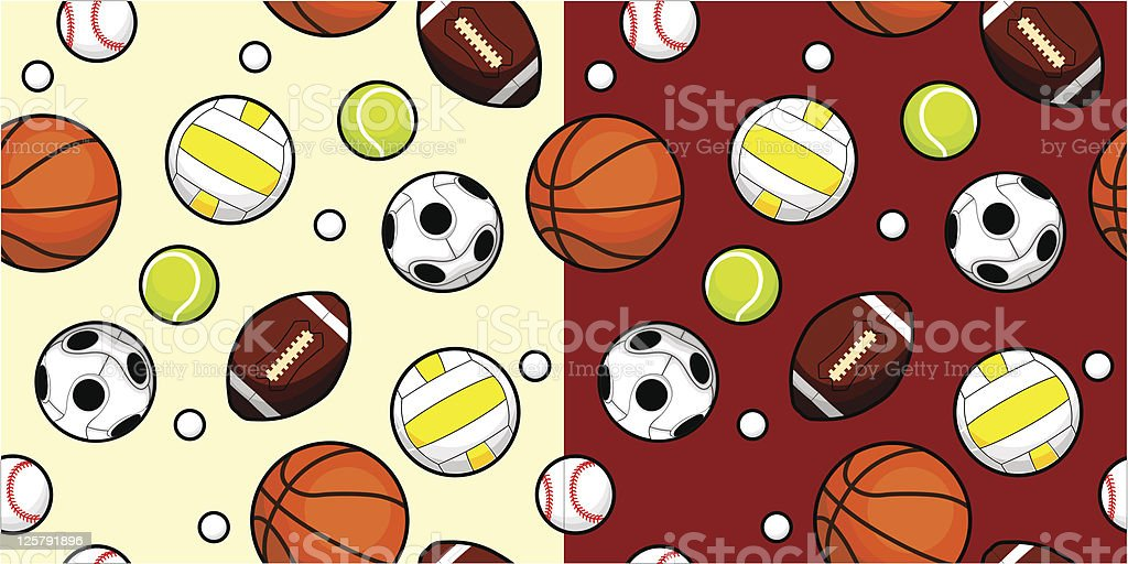 Sport Ball Seamless royalty-free stock vector art