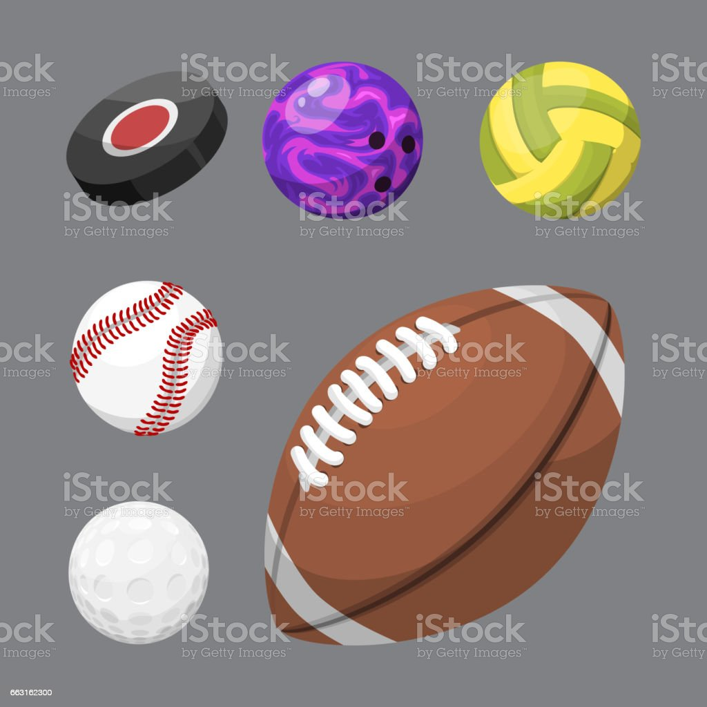 Sport balls isolated tournament win round basket soccer equipment and recreation leather group traditional different design vector illustration vector art illustration