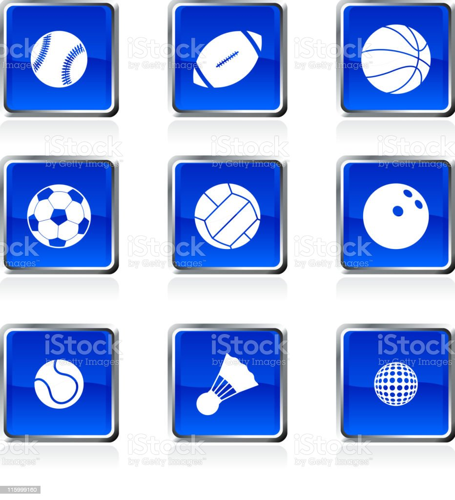 sport balls royalty free vector icon set royalty-free stock vector art