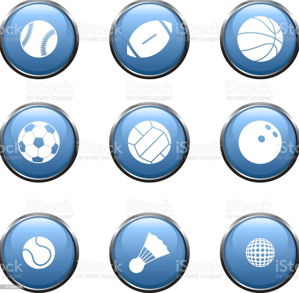 sport balls royalty free vector icon set royalty-free stock vector art