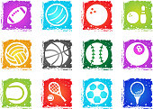 sport balls vector icons