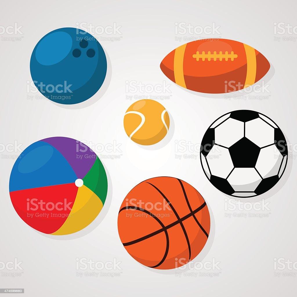 Sport balls vector art illustration