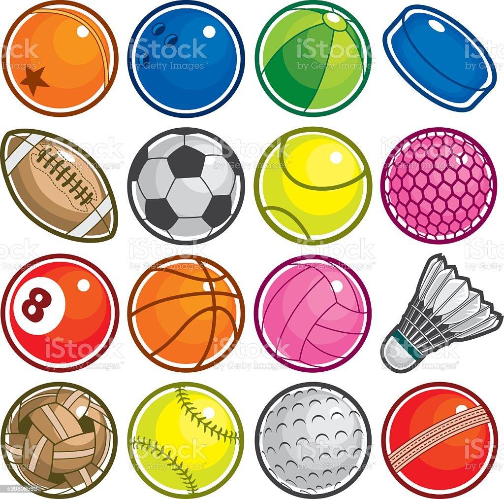 Colourful Sport Balls Icon