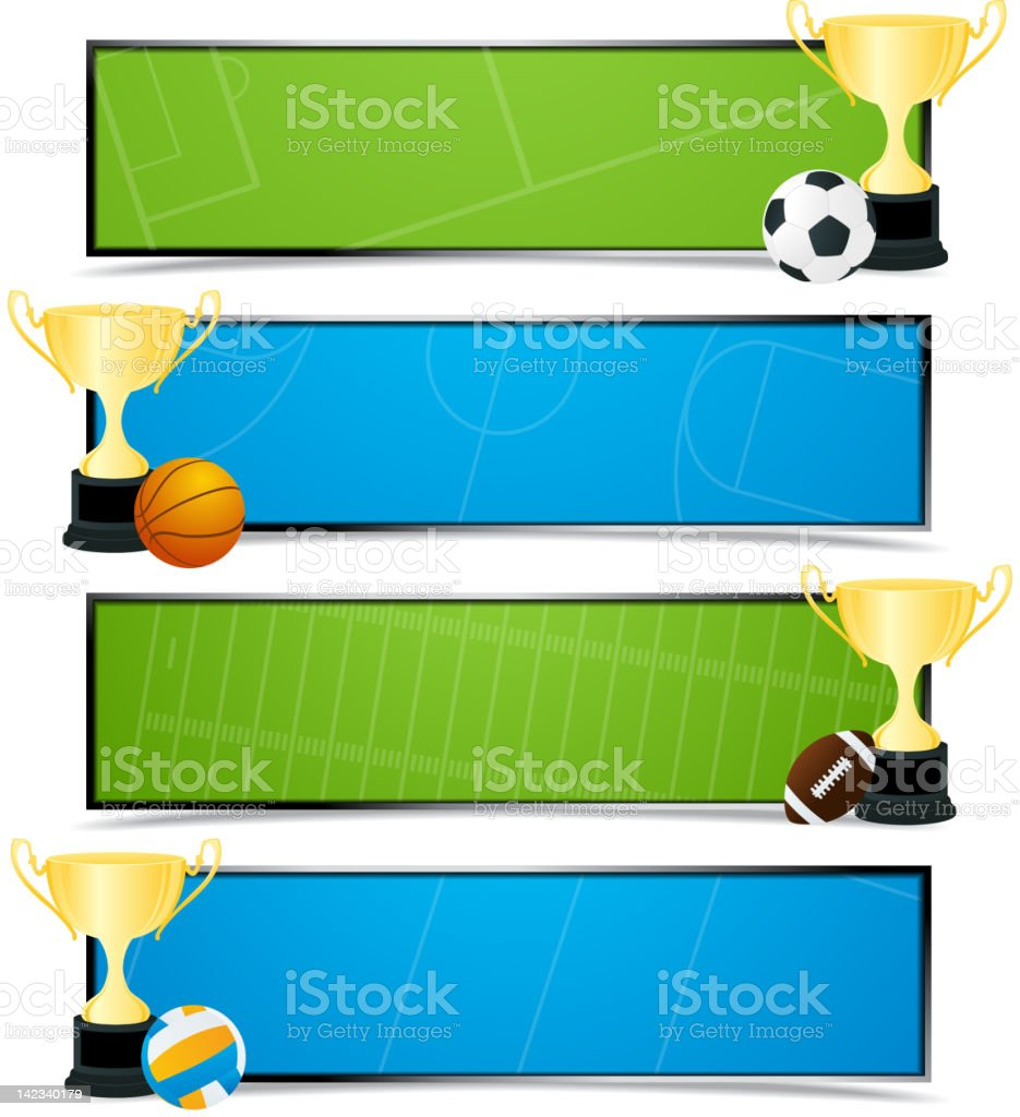 Sport banners royalty-free stock photo