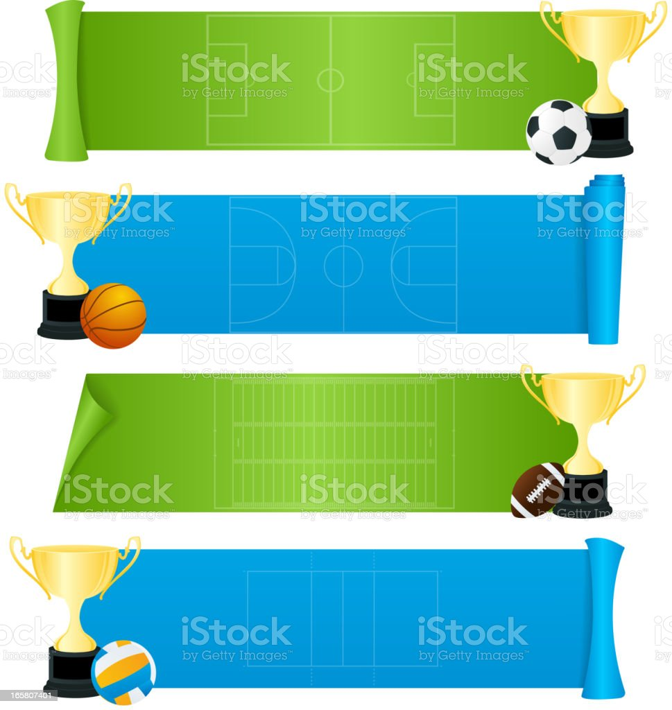 Sport banners royalty-free stock vector art