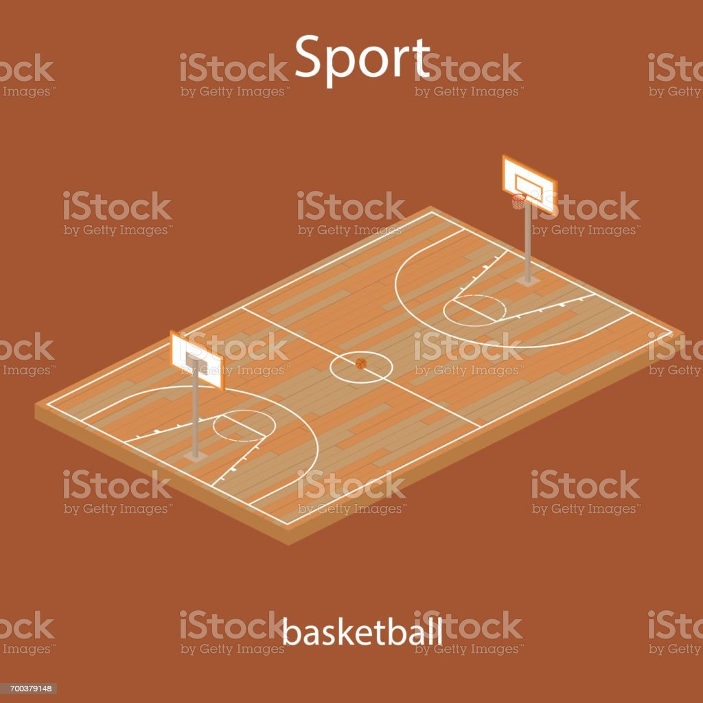 Sport baskeball field vector icon vector art illustration