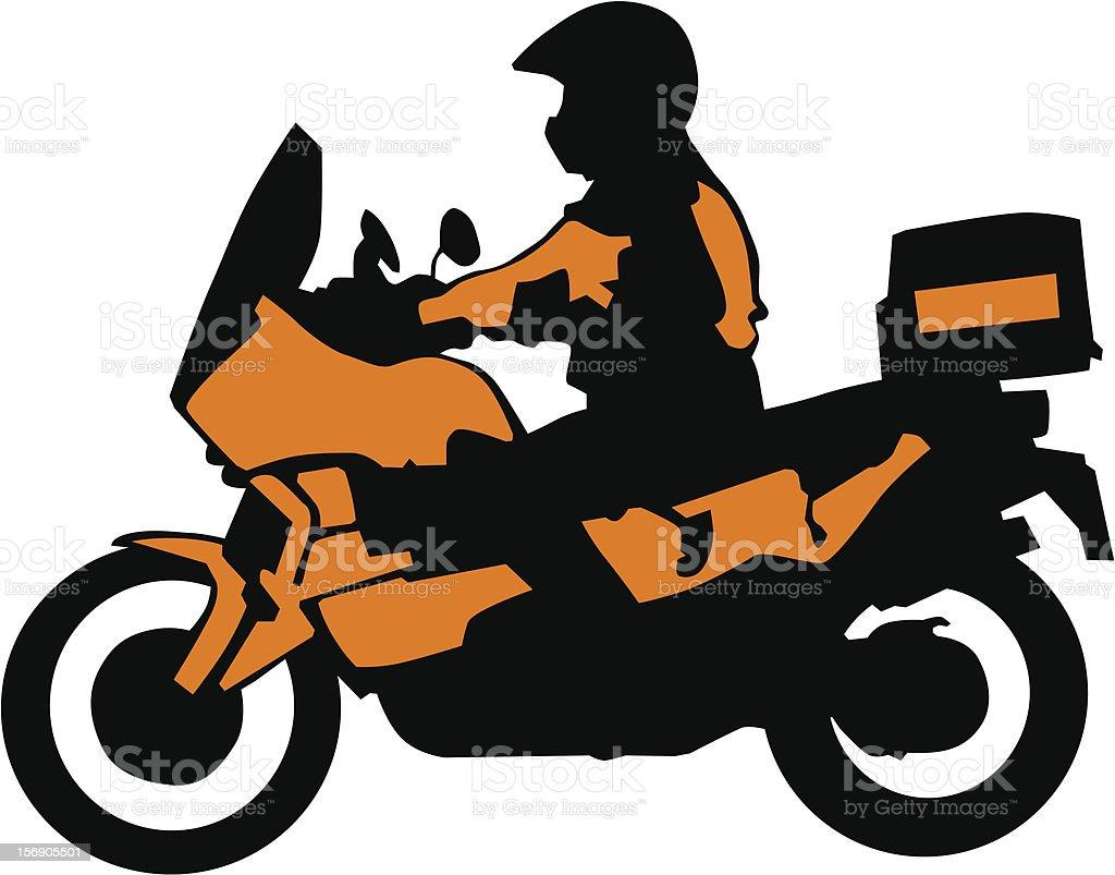 Sport bike of tourist royalty-free stock vector art