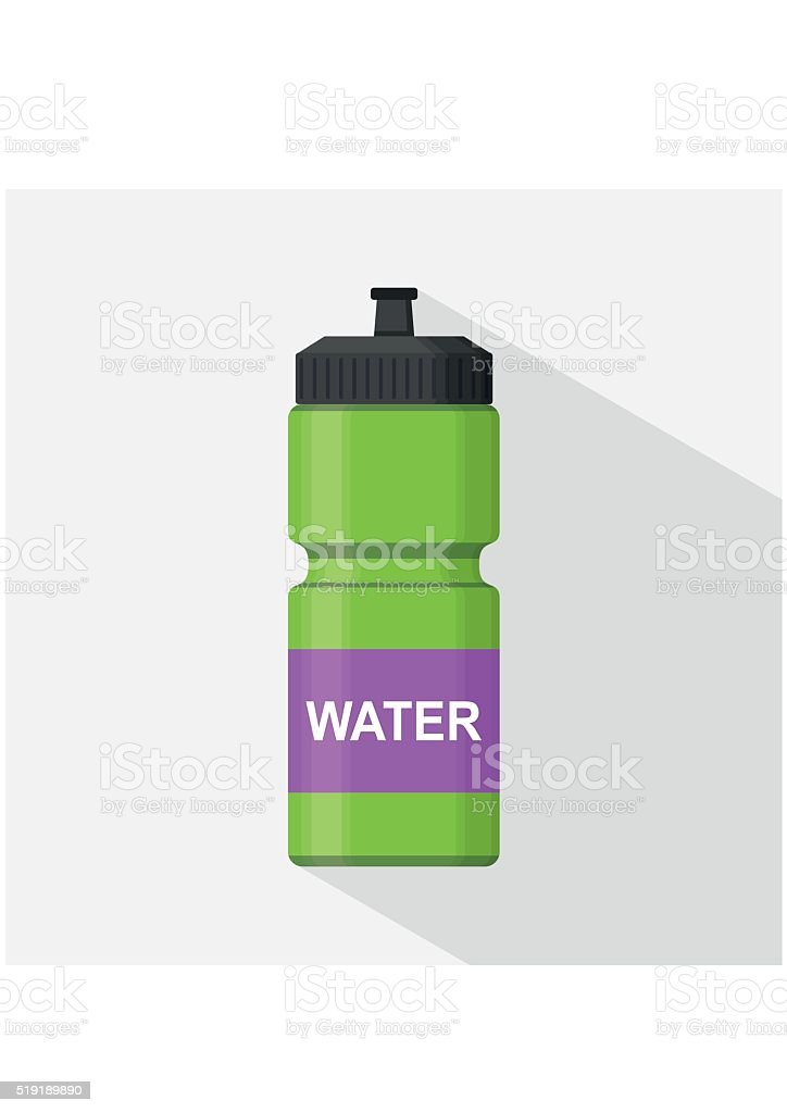 Sport bottle icon for water flat style. Sipper vector vector art illustration