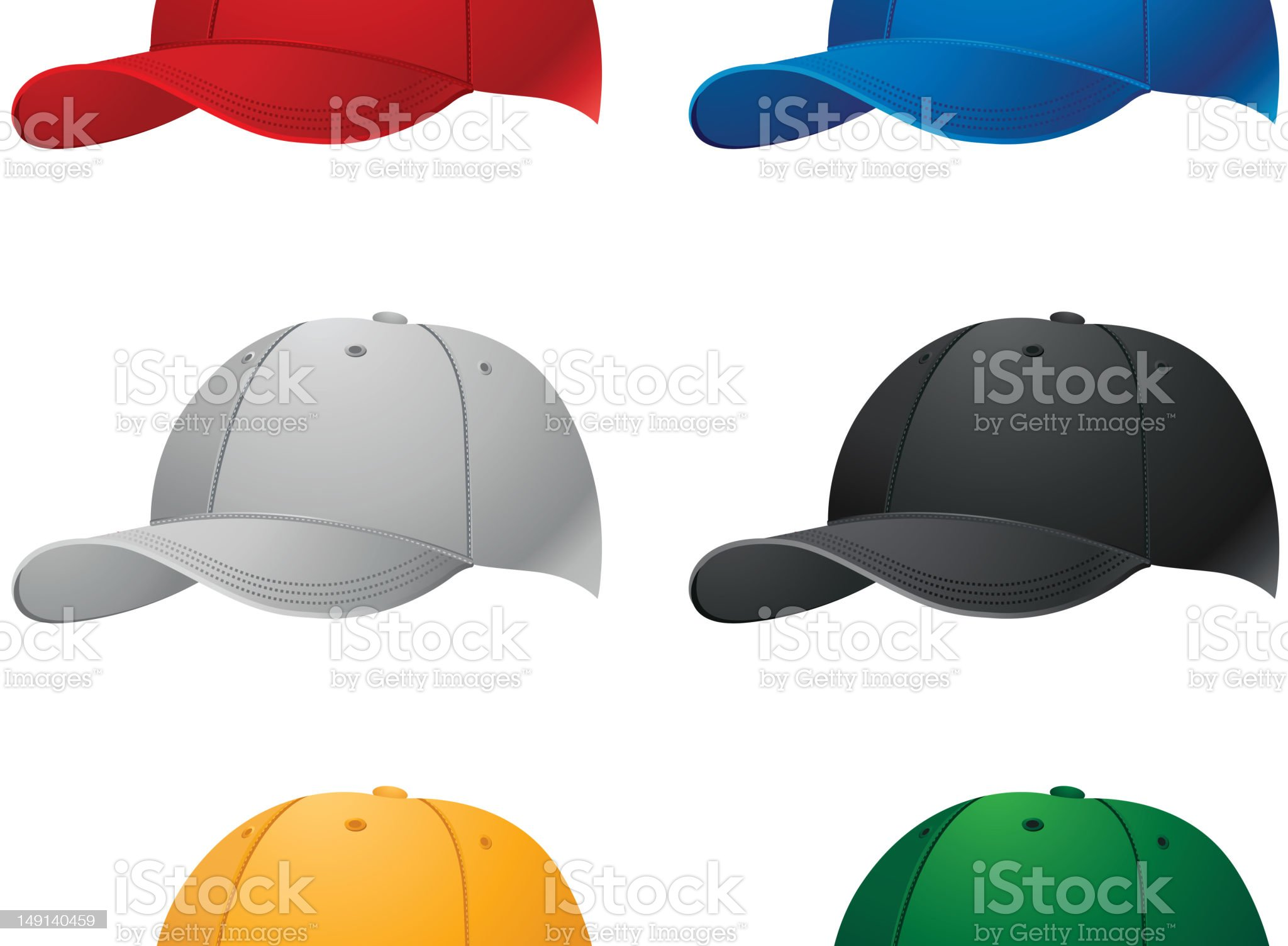 Sport caps collection royalty-free stock photo