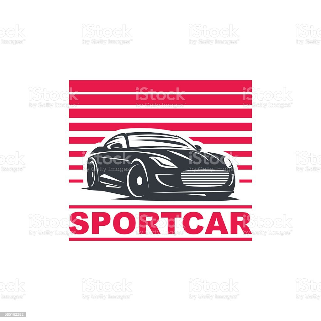 sport car emblem vector art illustration