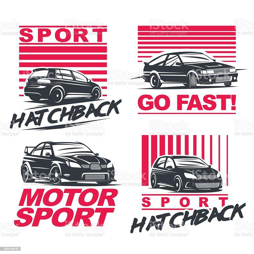 sport car set2 vector art illustration