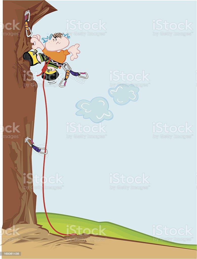 Sport climbing royalty-free stock vector art