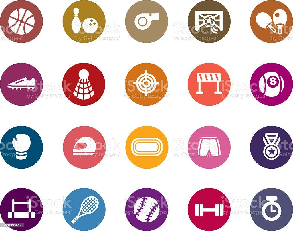 Sport Competition Color Icons vector art illustration