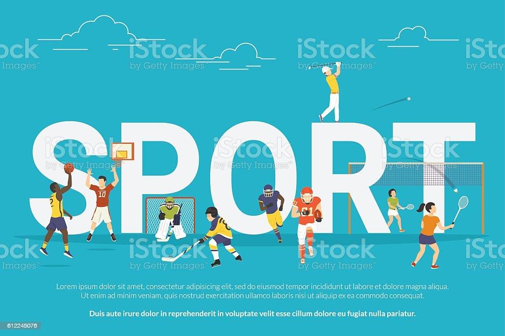 Sport concept illustration vector art illustration