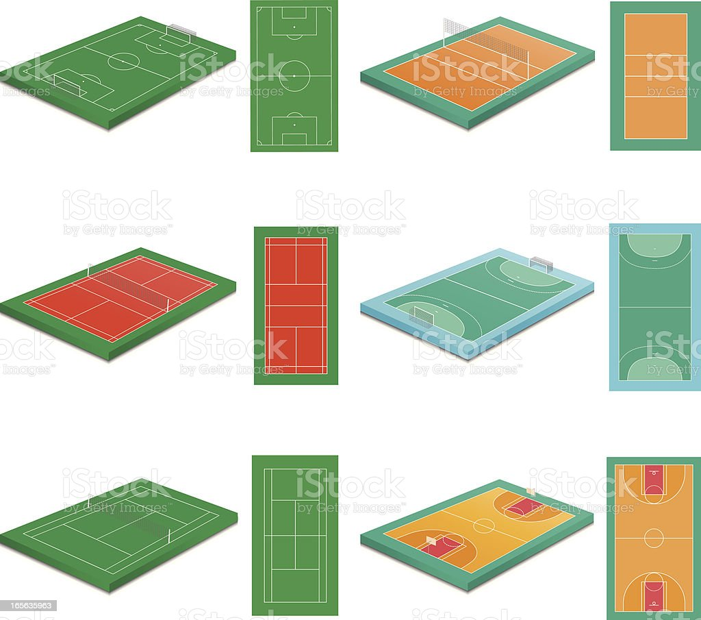 sport courts royalty-free stock vector art