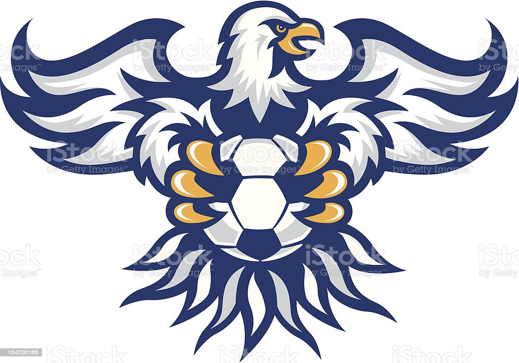 Sport Eagle – Includes Soccer, Football, Basketball and Baseball vector art illustration