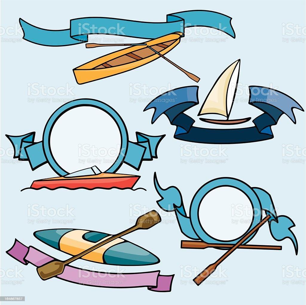 Sport Emblems XIX: Boats ( Vector) royalty-free stock vector art