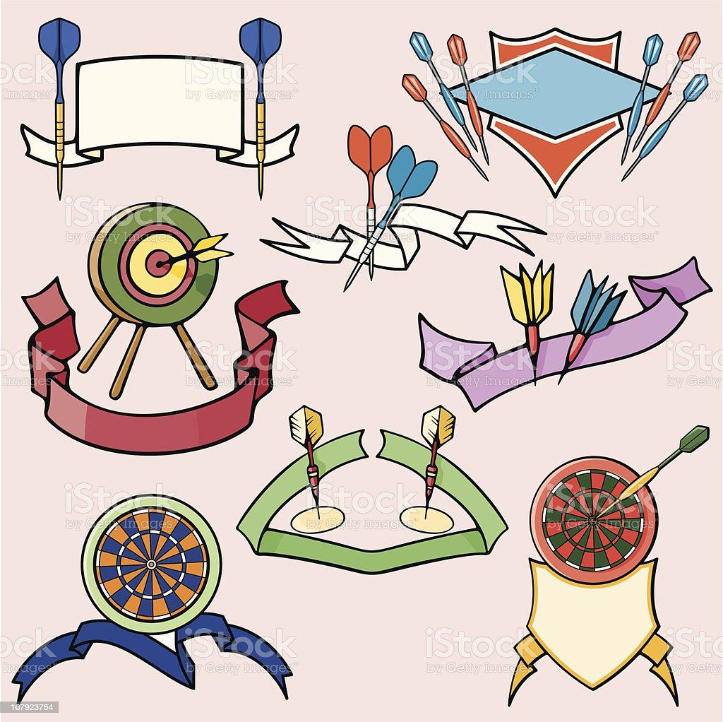 Sport Emblems XVIII: Darts ( Vector) royalty-free stock vector art