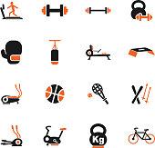 sport equipment icon set