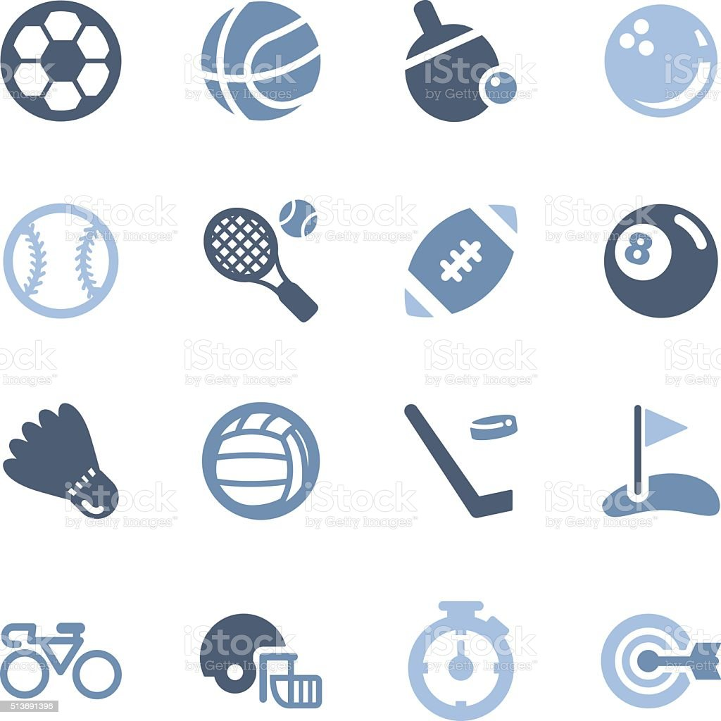 sport equipment icons vector art illustration