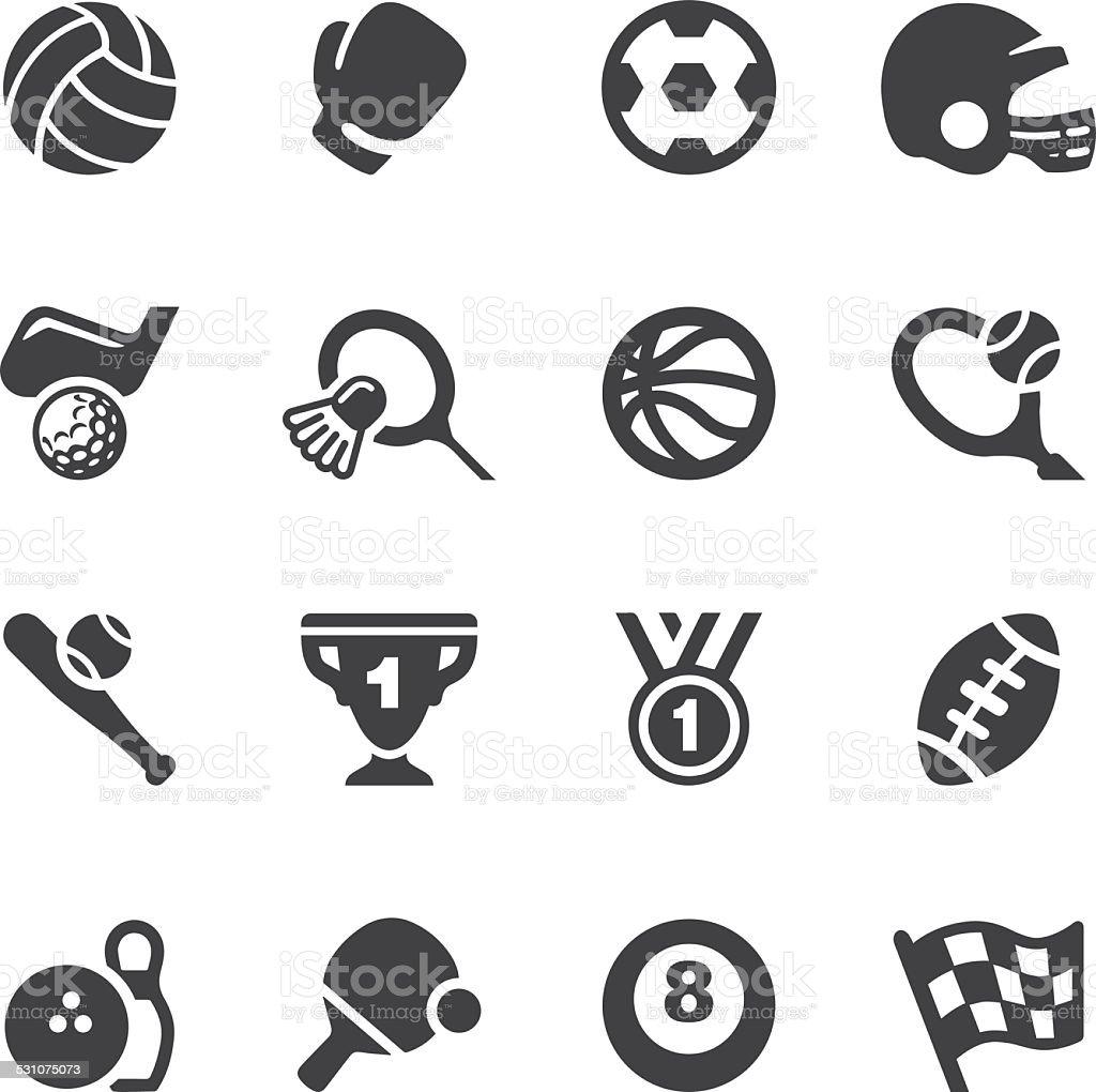 Sport Equipment Silhouette Icons 1   EPS10 vector art illustration