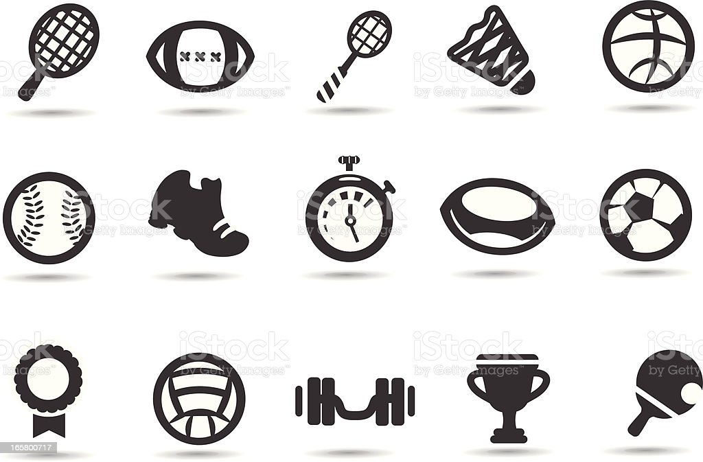 Sport Equipment Symbols vector art illustration