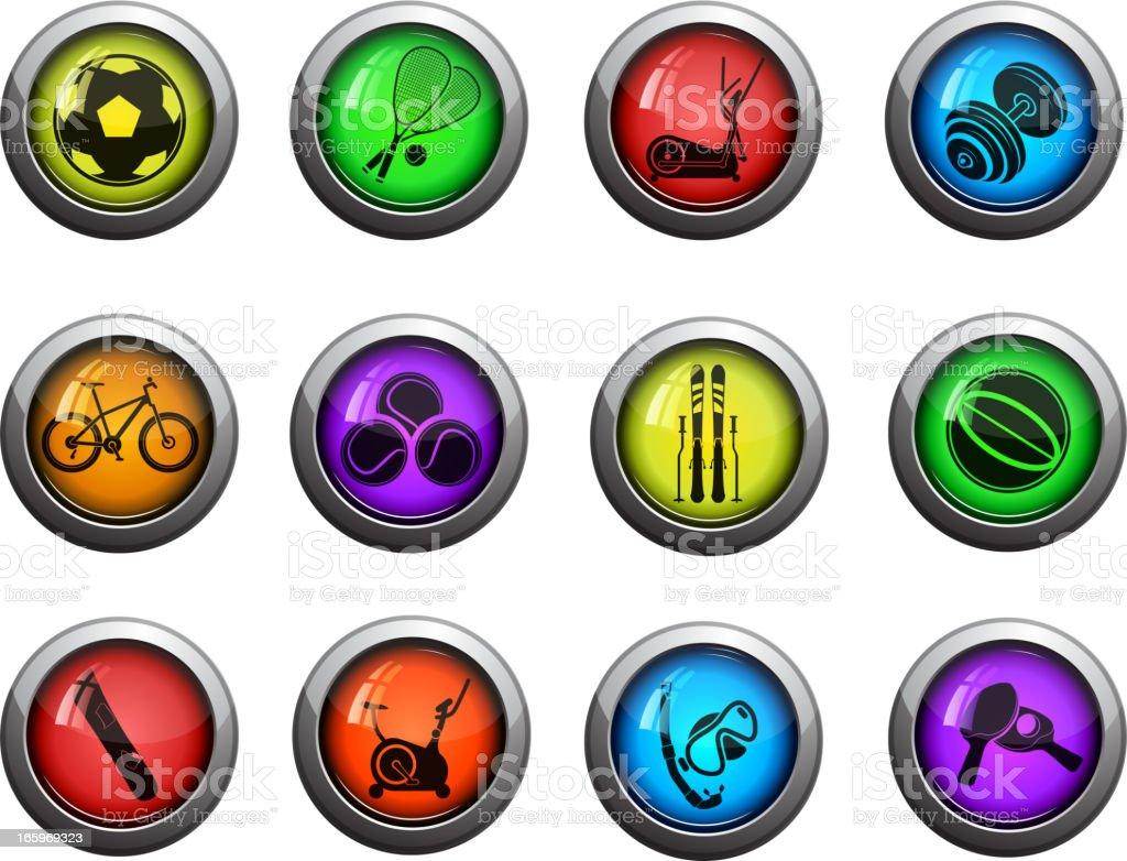 Sport equipment symbols royalty-free stock vector art