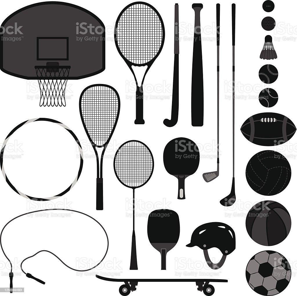 Sport Equipment Tool vector art illustration