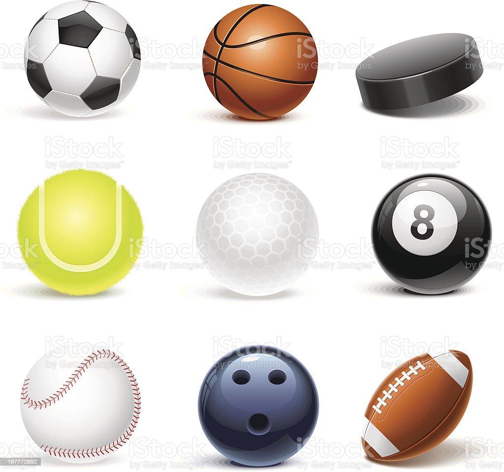 sport equipment vector icon set royalty-free stock vector art