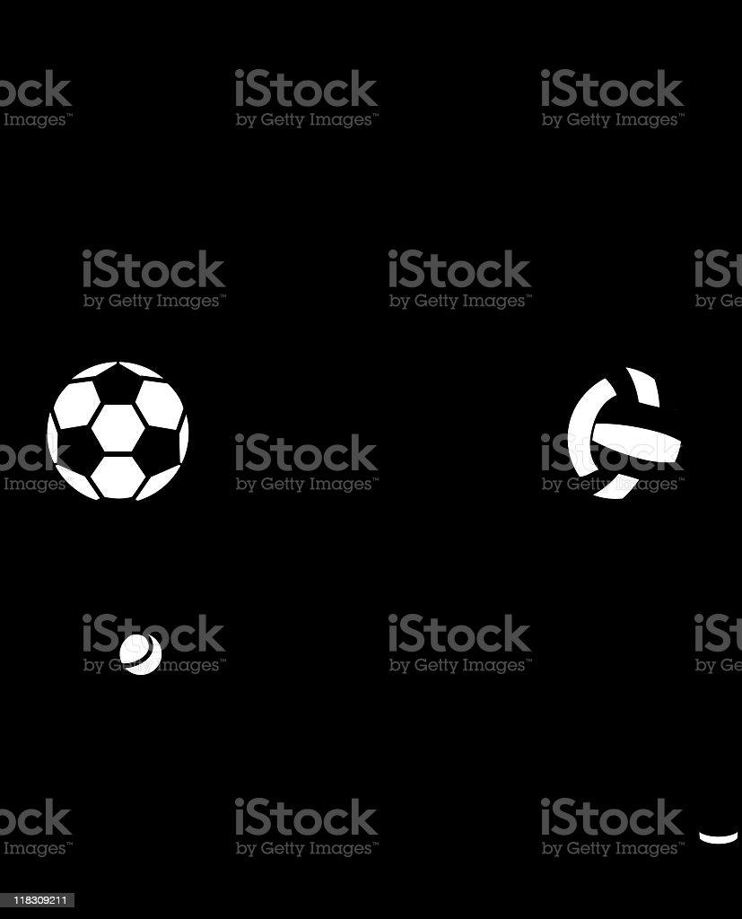 Sport equipment royalty-free stock vector art