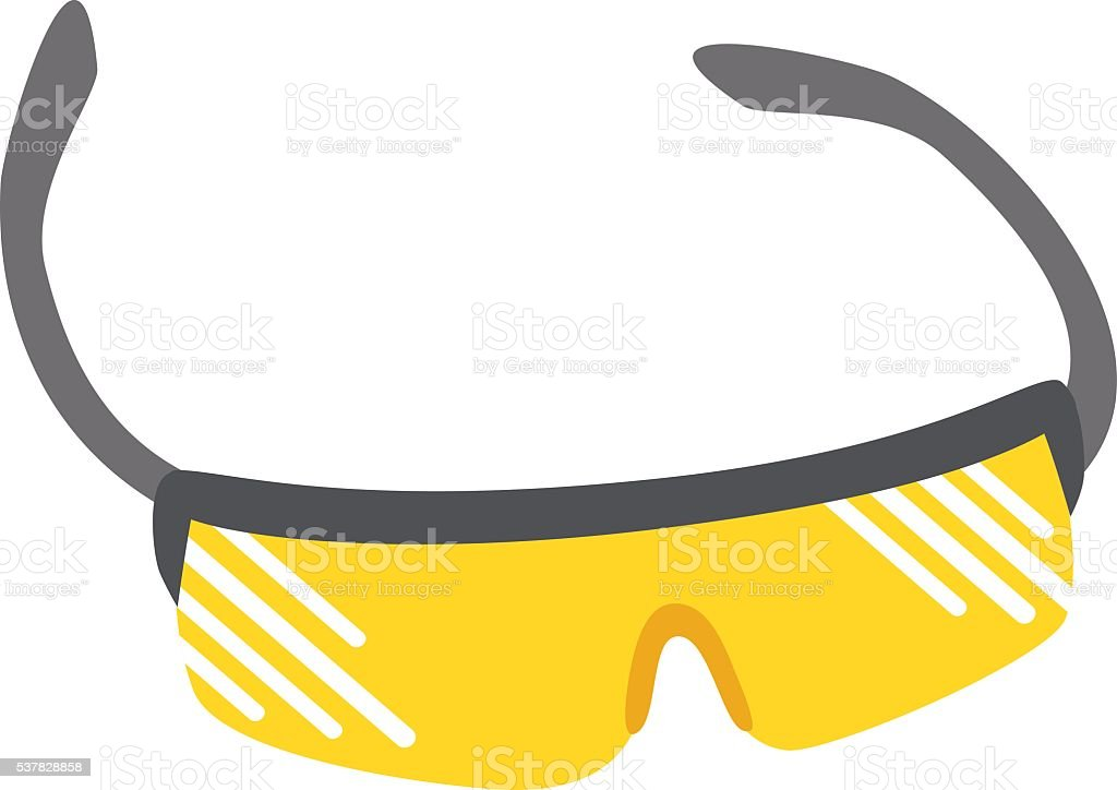 Sport glasses vector illustration. vector art illustration