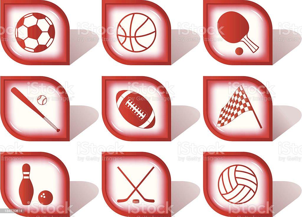 Sport icon set royalty-free stock photo