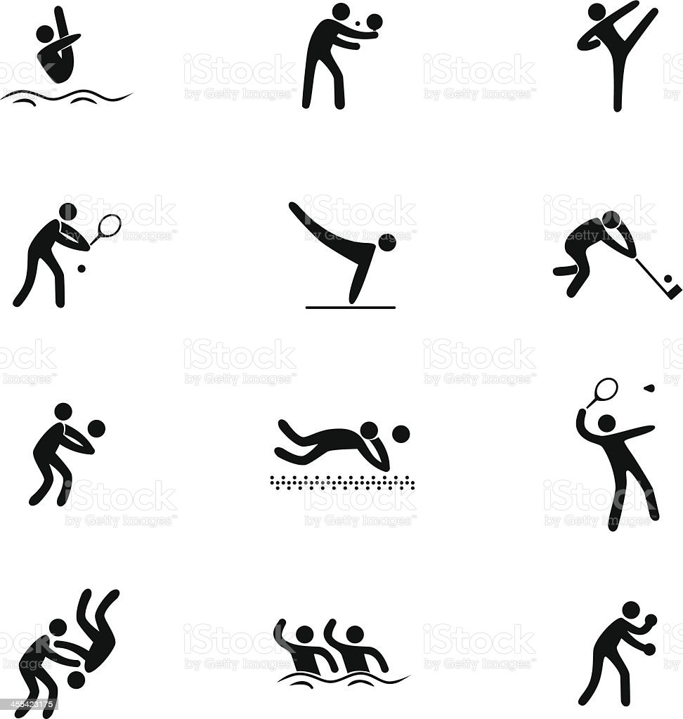 Sport Icon Set royalty-free stock vector art