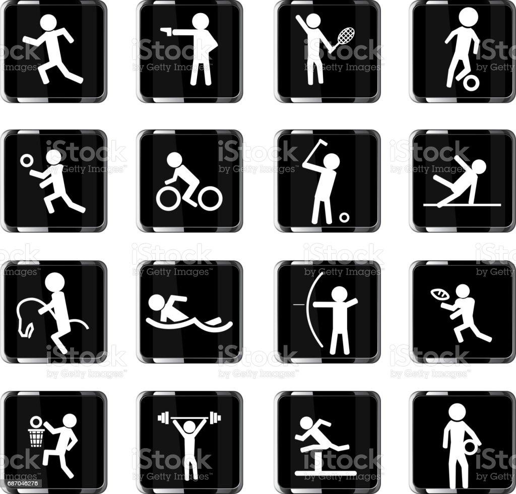 sport icon set vector art illustration