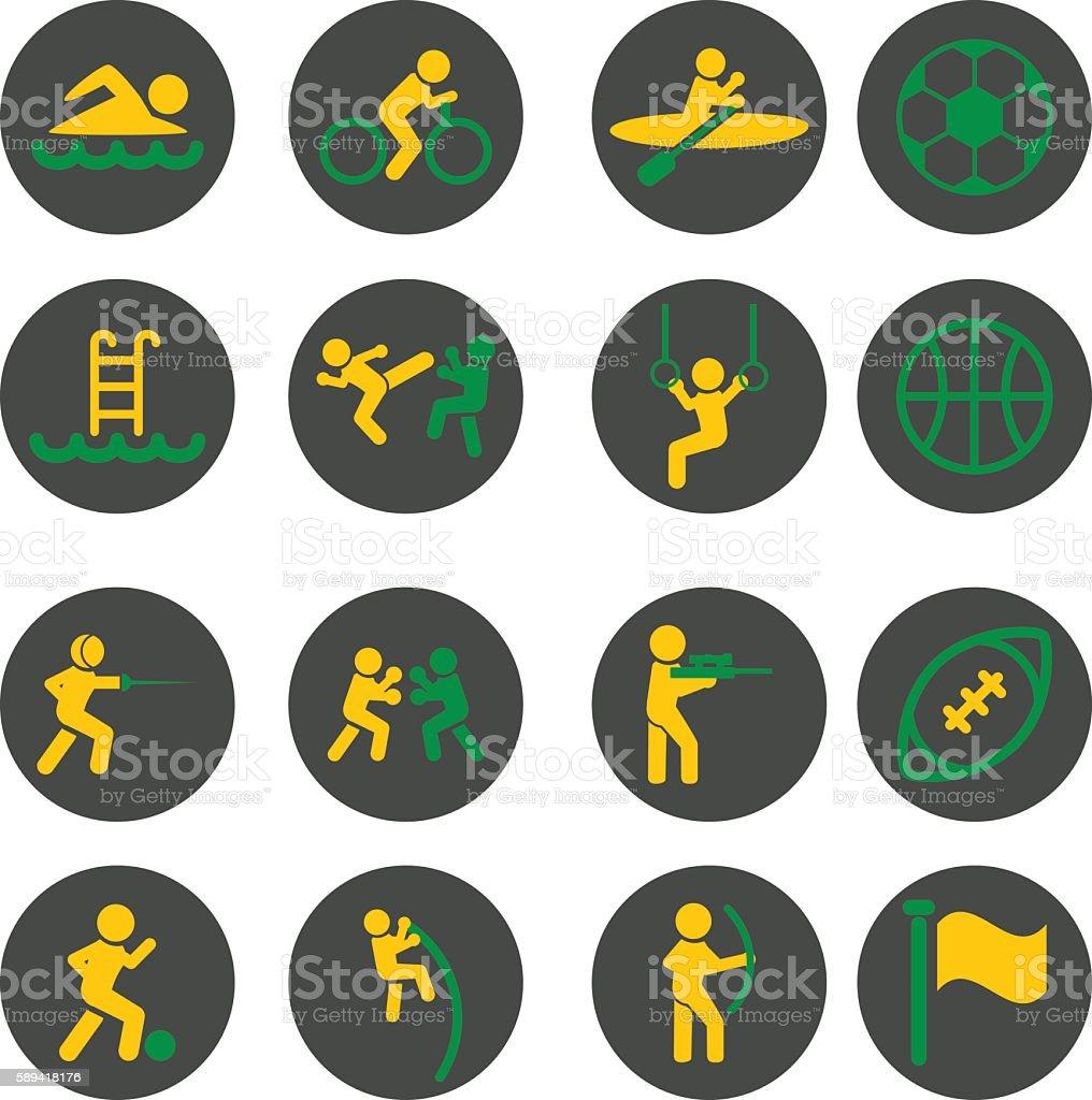 sport icon vector art illustration