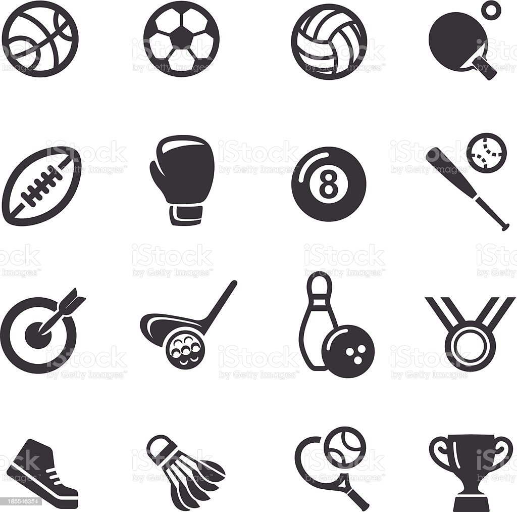 Sport icons - Acme Series royalty-free stock vector art