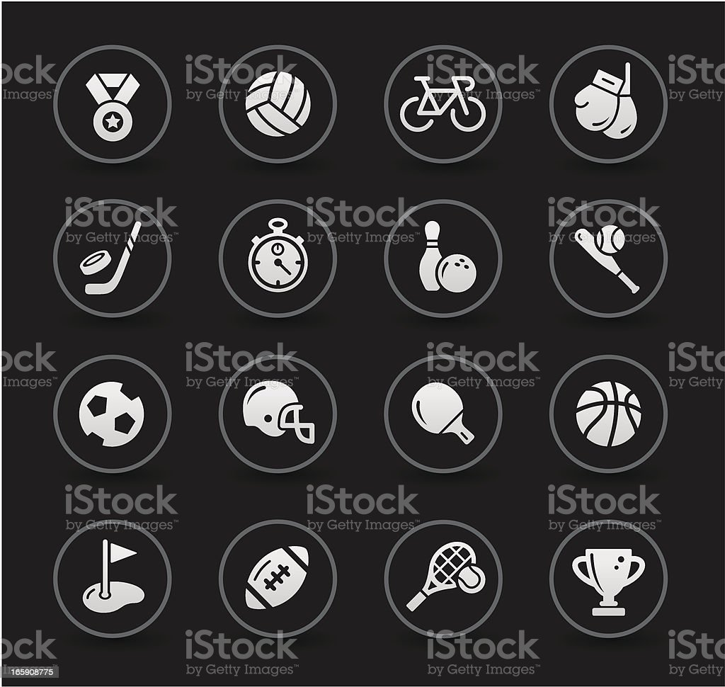Sport Icons | Black Series royalty-free stock vector art