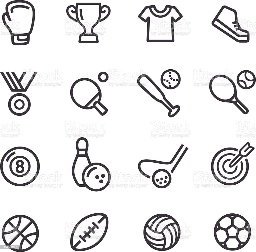 Sport Icons - Line Series vector art illustration