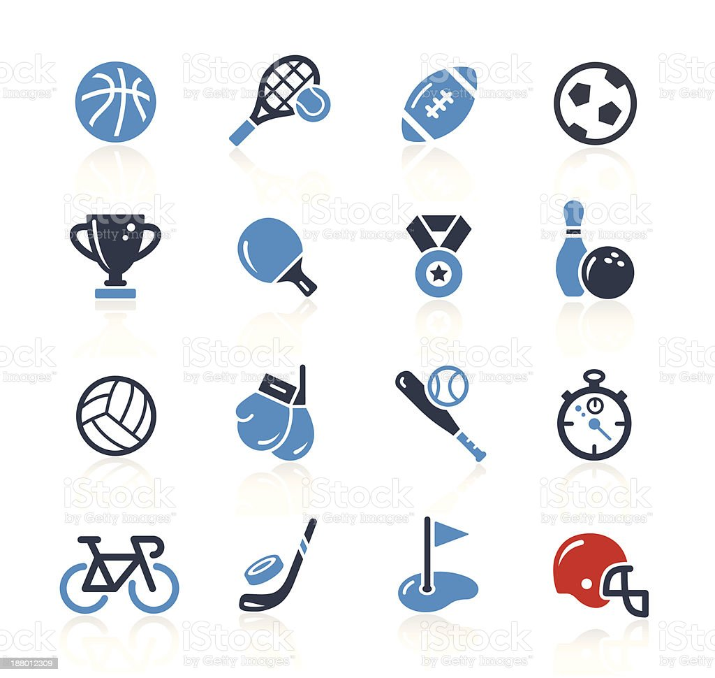 Sport Icons Two Colors| Pro Series vector art illustration