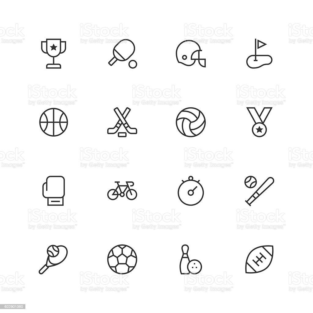 Sport Icons - Unique vector art illustration