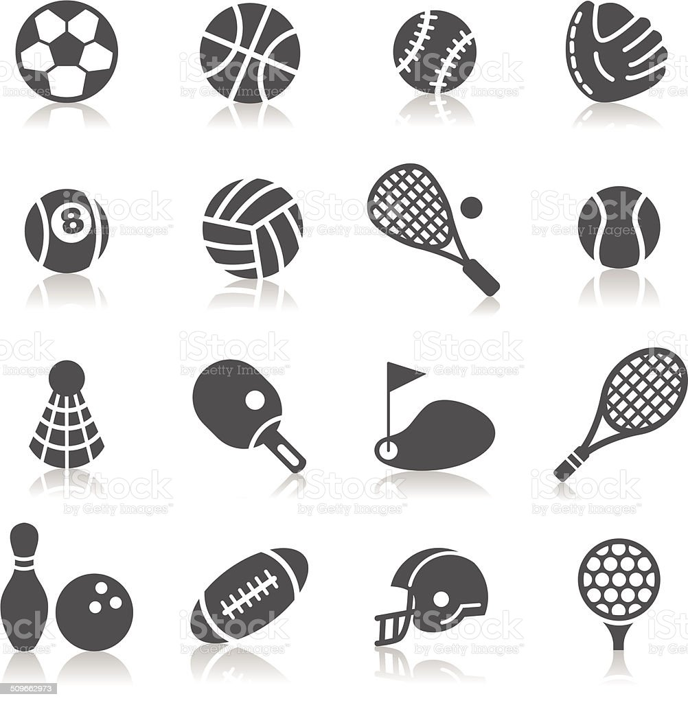 Sport Icons vector art illustration