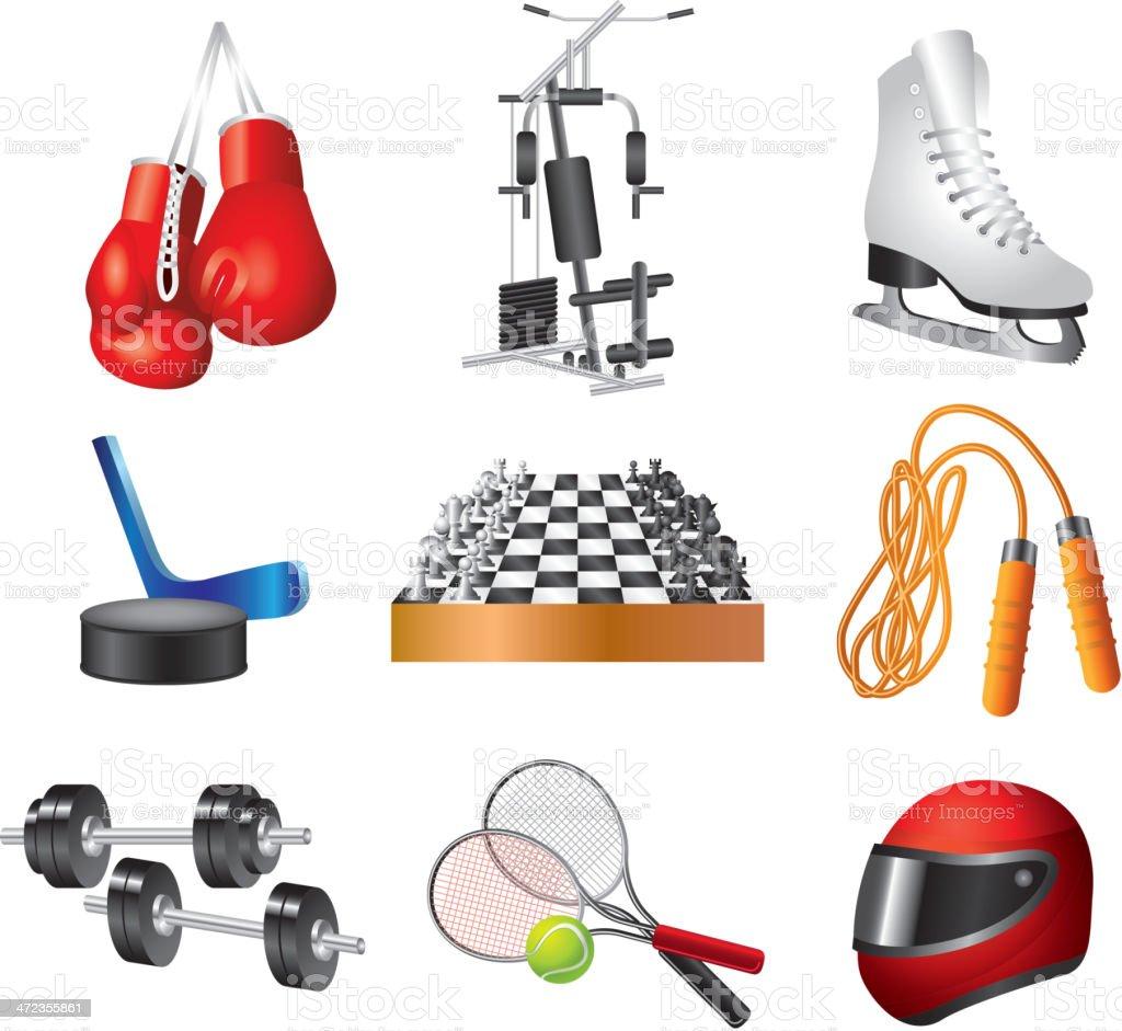 sport icons vector set royalty-free stock vector art