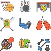 Sport icons vector set.