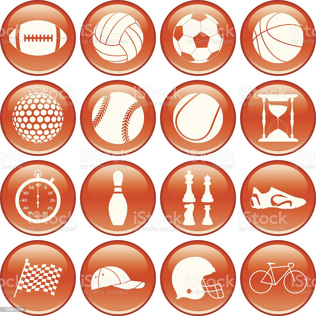 sport icons-3 royalty-free stock vector art