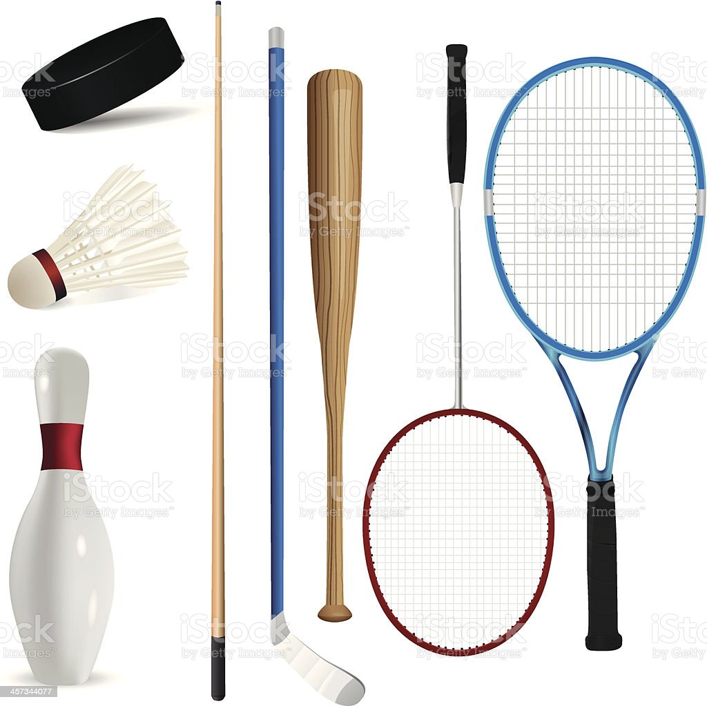 Sport items royalty-free stock vector art
