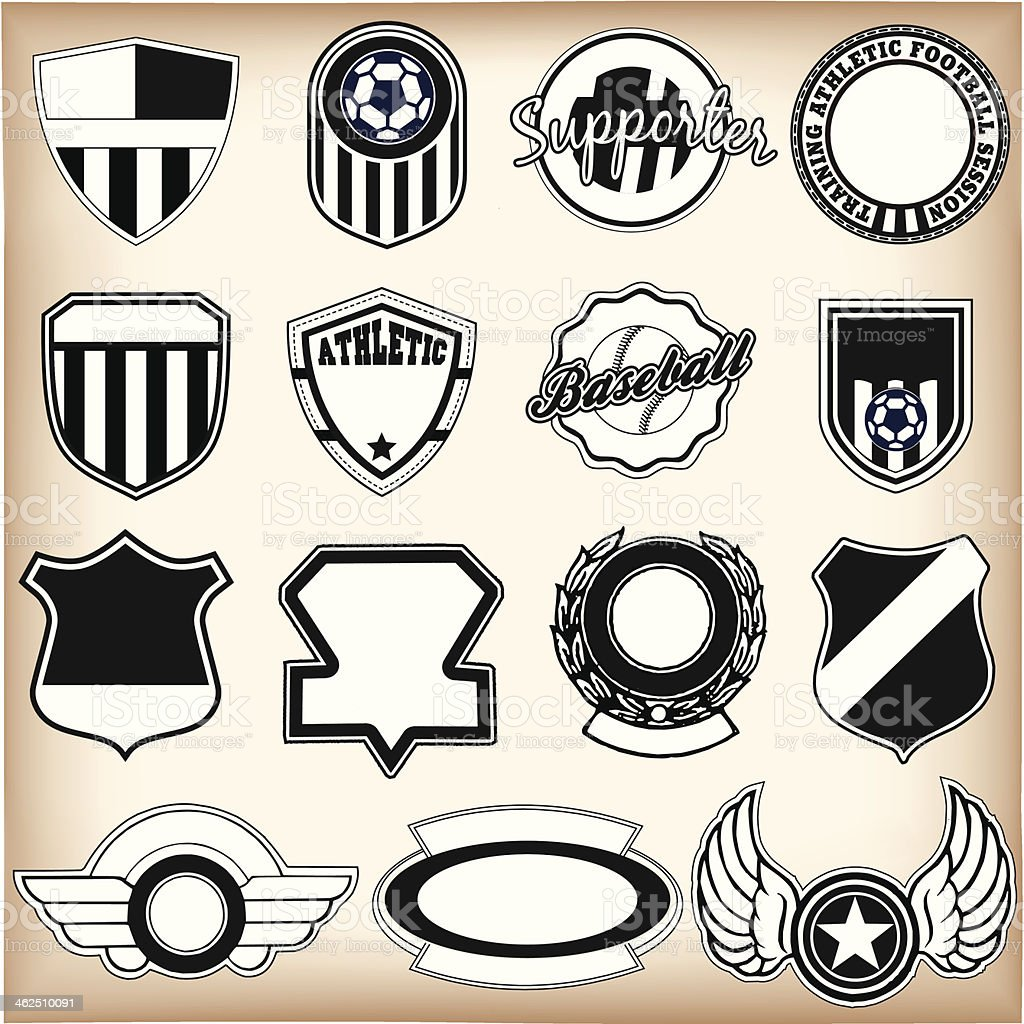 Sport labels royalty-free stock vector art