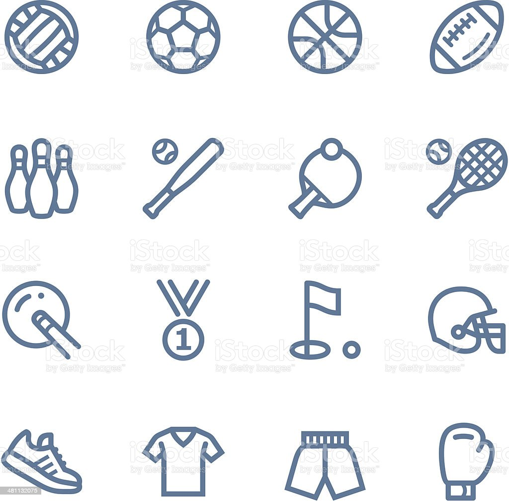 Sport line icons vector art illustration